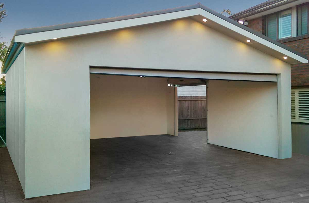 Double garage extension menai